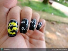 Halloween Nails: Black Bat & Mummy - Fashion   Fouara Ferdous   Touchtalent