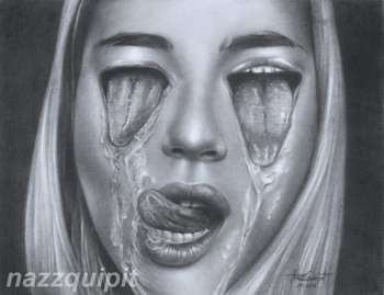 3in1 French Kisses - Sketching   Nazz Quipit   Touchtalent