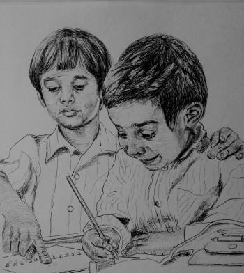 A Little Guidance Goes A Long Way..#Tribute2Teachers - Sketching | Manju Chaudhuri | Touchtalent