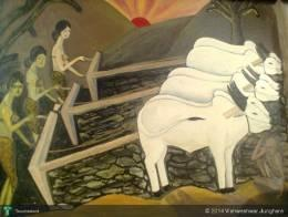 A Rise Of Women Farmers In Vidarbha ,india Due  To Male Farmers Suiscide. - Painting | Vishweshwar Junghare | Touchtalent