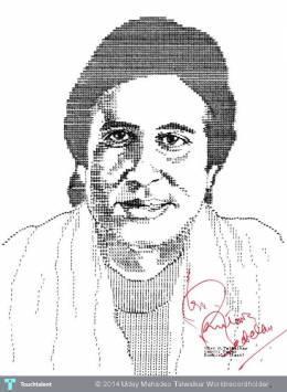 Amitabh Bachchan - Unique Portrait Made On Manual Typewriter - Painting | Uday Mahadeo Talwalkar Worldrecordholder | Touchtalent
