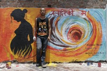 Art For A Cause Domestic Violence, Photo Credit:-Kapil Thapa - Painting | Laxman Shrestha-artist | Touchtalent