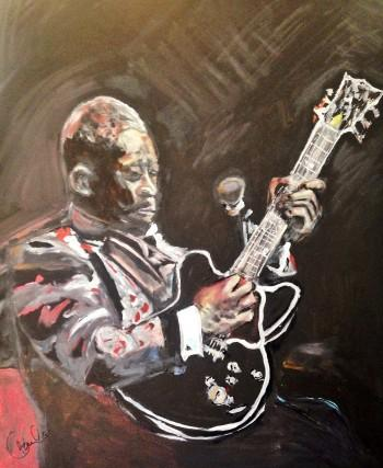 B.B. King - Painting | Paula Baker | Touchtalent