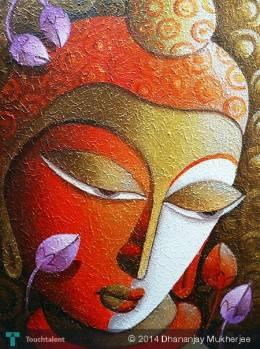 BUDDHA - Painting   Dhananjay Mukherjee   Touchtalent