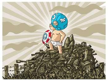 Baby Captain America - Digital Art   Ankur Chaudhary   Touchtalent