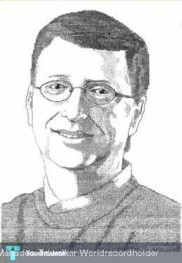 Bill Gates - Unique Portrait Made On Manual Typewriter - Painting | Uday Mahadeo Talwalkar Worldrecordholder | Touchtalent