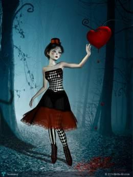 Bleeding Heart - Digital Art | Britta Glodde | Touchtalent