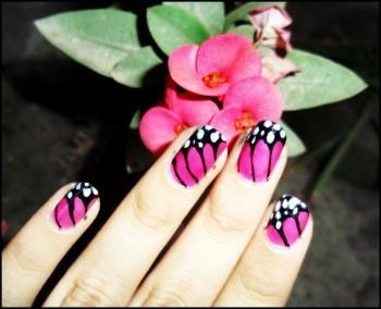 Butterfly Nails! - Design   Samiha Shameem   Touchtalent