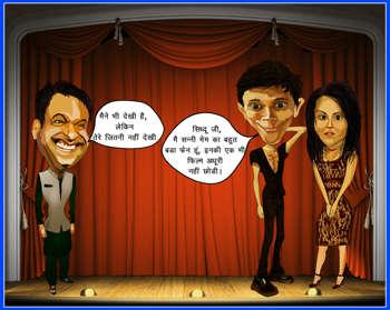 Cartooning_Kapil_sharma_sunny_Leone - Bobble Comics   Gk Moria   Touchtalent