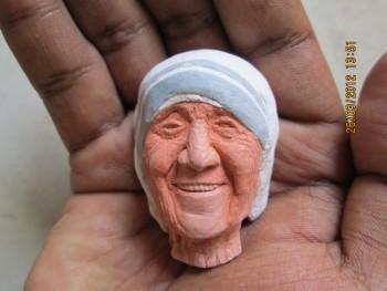 Chalk Art - Mother Teresa - Sculpting | Sachin Sanghe | Touchtalent