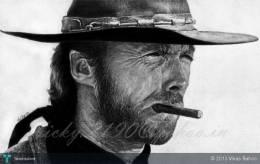"Clint Eastwood ""The Good"" - Sketching 
