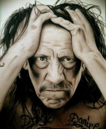 Danny Trejo - Painting | Andrew Christian Go | Touchtalent