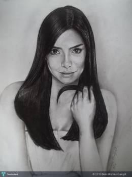 ERICH GONZALES-Phil. Actress/Model  (9X12 In) - Sketching | Delio Klemen Cainglit | Touchtalent
