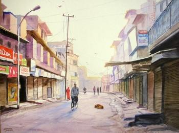 Early Morning, Jodhpur - Painting | Ramesh Jhawar | Touchtalent