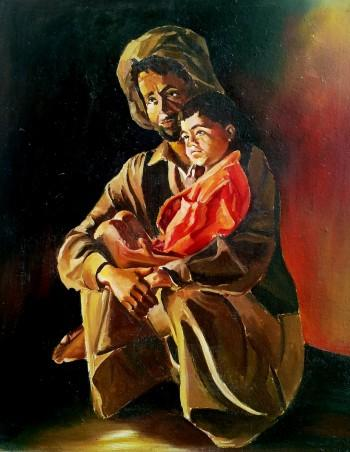 Father And Son - Painting | Advait Singh | Touchtalent
