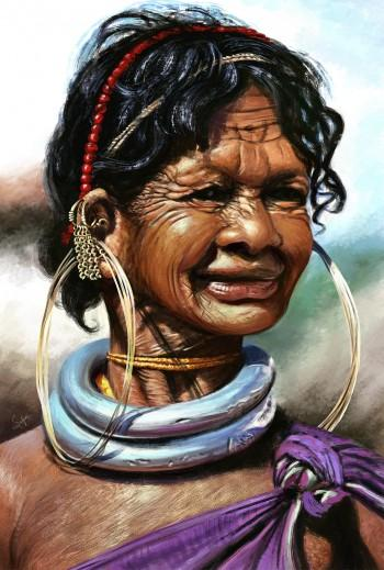 Gadaba-Tribes Of India - Digital Art   Satyaki Sarkar   Touchtalent