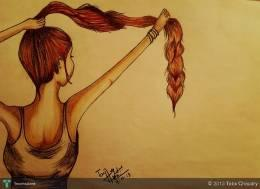 Hair :) - Sketching | Tayyaba Chaudry | Touchtalent