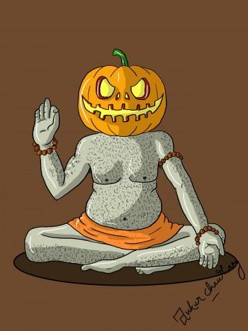 Halloween Wale BABA - Digital Art | Ankur Chaudhary | Touchtalent