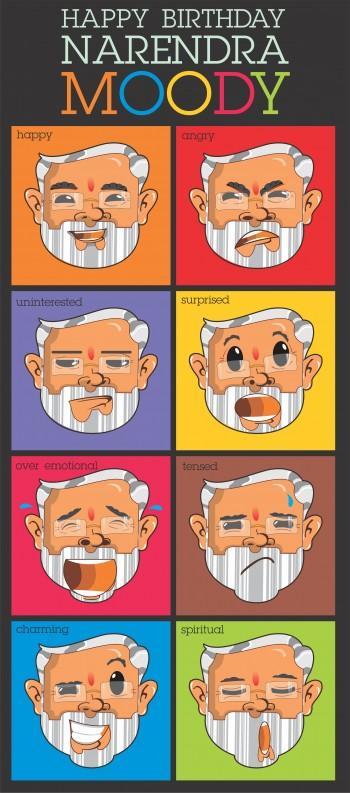 Happy Birthday Narendra Modi - Digital Art | Touchtalent .com | Touchtalent