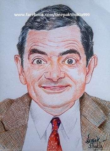 Happy B'day..Mr. Bean - Sketching | Deepak Shukla | Touchtalent