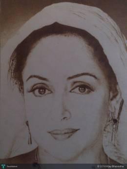 Hema Malini (By Agarbatti) - Painting | Vijay Dhanedhar | Touchtalent