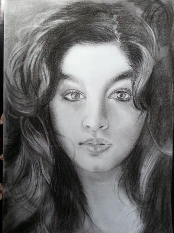 India's Screen Idol..Alia Bhatt - Sketching | Manju Chaudhuri | Touchtalent