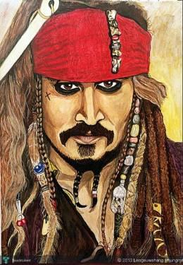 JACK SPARROW - Painting | Lengsuwahang Phungma | Touchtalent