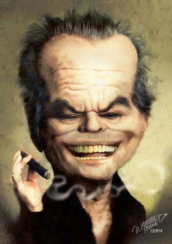 Jack Nicholson - Painting | Wawan Teamlo | Touchtalent