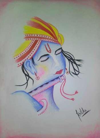 Jai Shri Krishna    - Painting | Kritika Khunger | Touchtalent