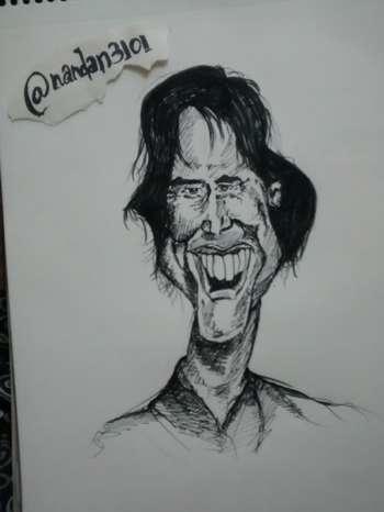 Jim Carrey (Caricature ) - Bobble Comics   Nandan 3101   Touchtalent