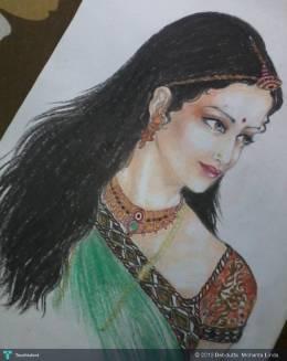 Jodha Bai - Painting | Debdutta  Mohanta Linda | Touchtalent