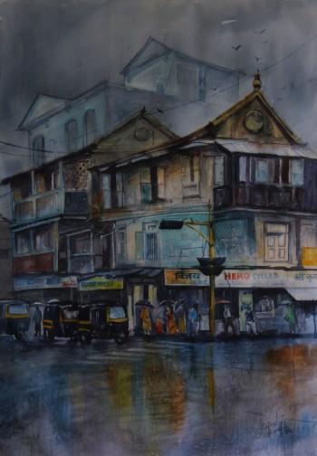 KasbaChowk_Pune - Painting | Rajesh Kamble | Touchtalent