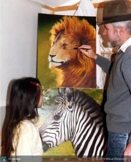 Klaus-teaching-daughter - Photography | Klaus V. Ostendorf | Touchtalent