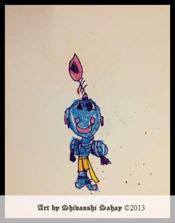 Krishna - Painting | Shivanshi Sahay | Touchtalent