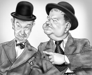 Laurel & Hardy - Digital Art | Alan Davis | Touchtalent
