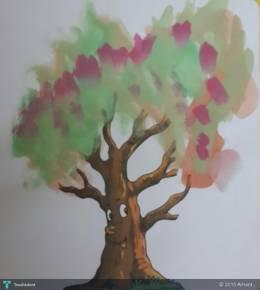 Leafy Tree - Painting | Arhant . | Touchtalent