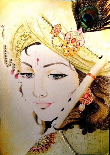 Lord Krishna - Painting | Jaspreet Saini | Touchtalent