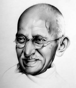 Mahatma Gandhi - Sketching | Marie Bouldingue | Touchtalent