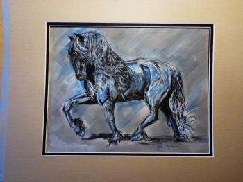 Majestic Friesian - Sketching | Kathleen Mueller | Touchtalent
