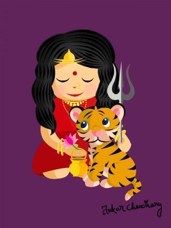 Mata Chandraghanta - Digital Art | Ankur Chaudhary | Touchtalent
