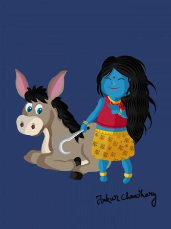 Mata Kalratri - Digital Art | Ankur Chaudhary | Touchtalent