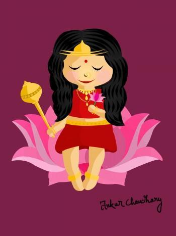 Mata Siddhidatri - Digital Art | Ankur Chaudhary | Touchtalent