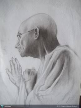 Mohandas Ghandi (Study) 8.5X12 - Sketching | Delio Klemen Cainglit | Touchtalent