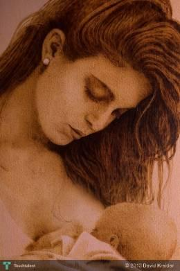 """Mother Love"" Pyrography - Painting 