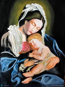 Mother And Child - Painting | Joshil Kumar | Touchtalent