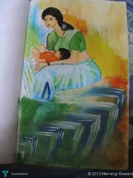 Motherhood - Painting   Hemangi Gawand   Touchtalent