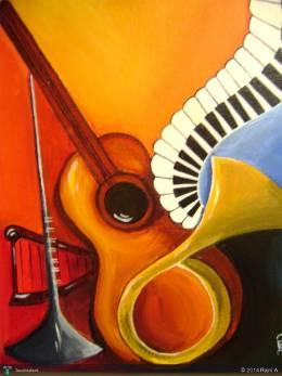 Musical Instruments - Painting | Rajni A | Touchtalent