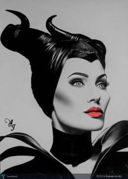 My Drawing Of Maleficent - Sketching | Aleksandar Ilić | Touchtalent