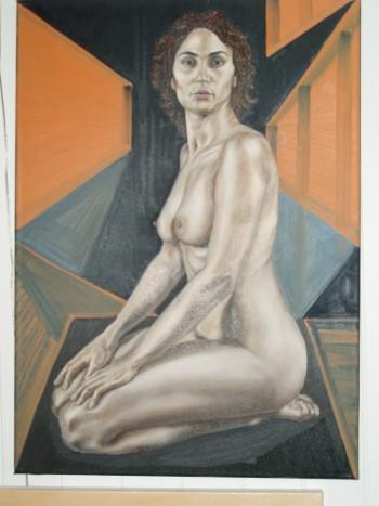 Naakt - Painting | Geert Coucke | Touchtalent