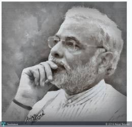 Narendra Modi - Digital Art | Aejaz Saiyed | Touchtalent